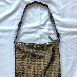 Whiting and Davis gold handbag